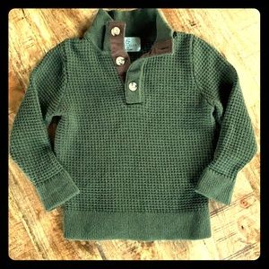 Class/Club half button up pullover sweater